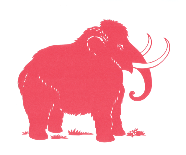 Wooly Mammoth - Paper Cut picture